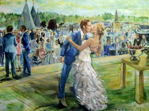 Een schilderij van jouw bruiloft?