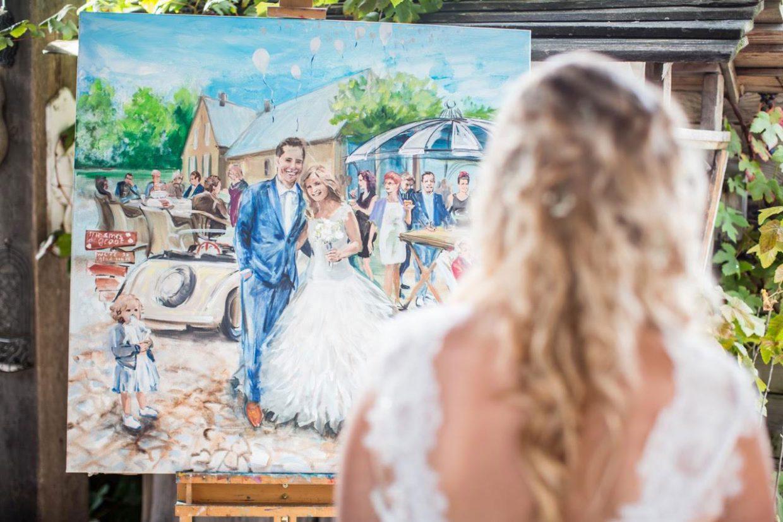 Schilderij van je bruiloft