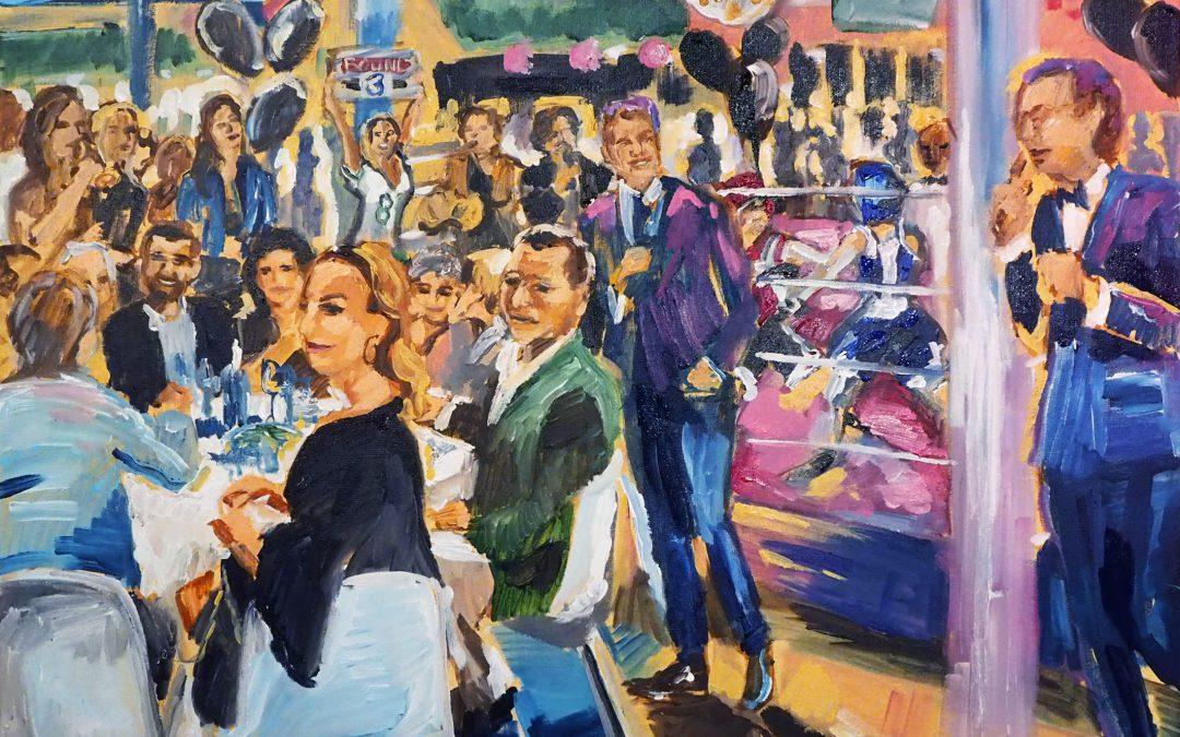 Live event painting Hilversum Charity Event: ''Vechten voor het leven''